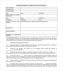 Simple Snow Plowing Contract Template Snow Removal