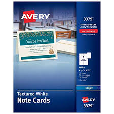 Avery 3378 Template Avery Printable Note Cards Inkjet Printers 50 Cards And Envelopes 4 25 X 5 5 Heavyweight Textured 3379 White