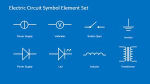 Powerpoint Circuit Theme Electrical Circuit Diagram Powerpoint Template Slidemodel