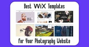 6 Absolute Best Wix Photography Website Templates 2019 Update