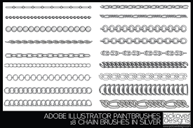 18 Vector Chain Brushes Illustrator Illustrator Add Ons Creative