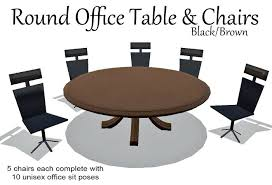 small round office table second life marketplace office table chairs brown box small office table small round office table
