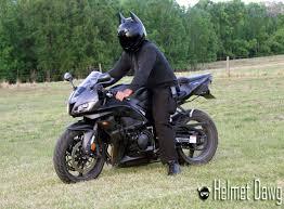 dark as night motorcycle helmet brings out the bat in the man