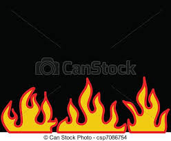 Flame Pattern Magnificent Red Burning Flame Pattern Vector