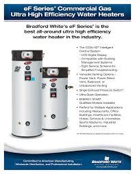 High Efficiency Water Heaters Gas Ef Seriesar Ultra High Efficiency Models Bradford White Water