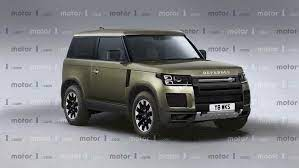 New Landrover Defender Takes Off All Camo In Exclusive Rendering Vintage Modern Forsale New Land Rover Defender New Land Rover Land Rover Defender