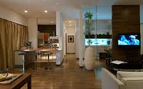 Open Spaces in 3 BHK Apartment Design by: Shahen Mistry