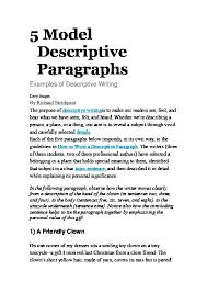 5 model descriptive paragraphs doc