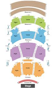 dolby theatre seating chart maps