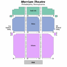 Merriam Theater Seating Chart Theatre In Philly