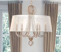 crystorama 6767 dt garland 6 light crystal chandelier in distressed twilight with silk drum shade and hand cut crystal beads