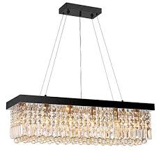 Image Lovable Image Unavailable Amazoncom Moooni Modern Rectangular K9 Crystal Chandelier Lighting Dining Room