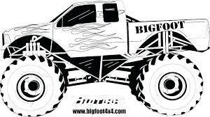 Coloring Pictures Of Monster Trucks Monster Truck Coloring Pages