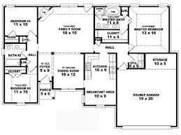... 4 Bedroom House Plans One Story Design Full Size