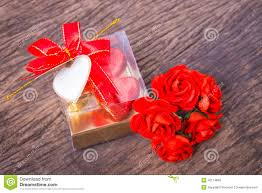 Blank Boxes To Decorate Heart Shaped Chocolates Box With Blank Card And Roses Stock Image 23