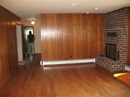painting old wood paneling before and after