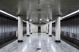 empty subway train. Modren Empty Empty Subway Station Osaka Japan And Subway Train A