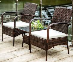 brown set patio source outdoor. Merax 3 Piece Cushioned Patio PE Rattan Furniture Set Brown Source Outdoor