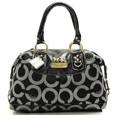 Coach Outlet Store Coach Madison In Signature Medium Black Satchels  AAX 63.99 .Just