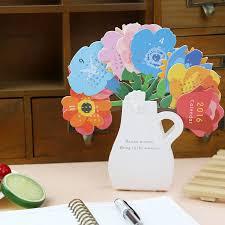 decorative office supplies. creative designed kawaiicute flower 2016 table calendar desktop decoration schooloffice supplies free decorative office d