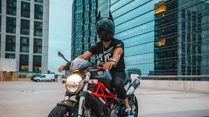 motorcyclist, motorcycle, helmet, man ...