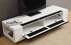 white media console furniture. White Color Modern Low Profile Media Console With Bookshelf And Fold Down Door Ideas Furniture