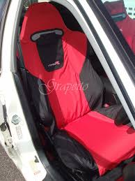 recaro honda civic type r ep3 seats cover set 2 pcs red black yellow bicolour