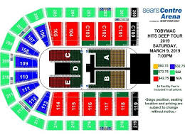 Sears Centre All In Seating Chart Events Tobymac Hits Deep Tour 2019 Sears Centre