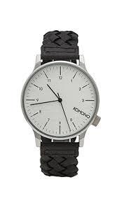 <b>Komono Часы Winston Woven</b> в цвете Black | REVOLVE