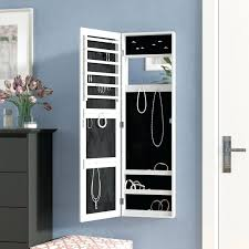 45 wall mounted lighted jewelry armoire with mirror reviews