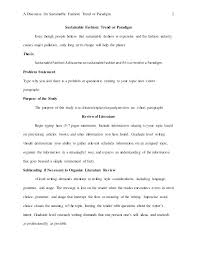 Literature Review In Apa Sample Literature Review Format Edition Fascinating Style
