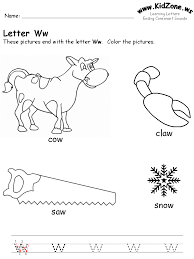 Letter W Worksheets Cool pre k work sheets for kids. | Homeschool ...