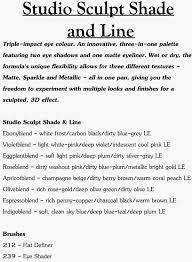 Mac Color Story Collections Face Charts Mac Studio Sculpt