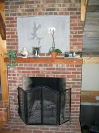 Best 25 Simple Fireplace Ideas On Pinterest  Wood Mantle White Cleaning Brick Fireplace Front