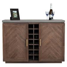 Vig Furniture Modrest Amos Modern Acacia Wine Cabinet