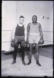 Floyd Johnson And Jack Johnson In Ring by Bettmann