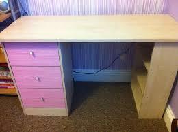 argos malibu 3 drawer desk pink on pine used
