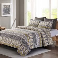 Buy Yellow/Grey Quilts from Bed Bath & Beyond & Tapestry Full/Queen Quilt Set in Grey/Yellow Adamdwight.com