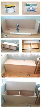 Build your own storage bench... $80 in materials. About 1 day of
