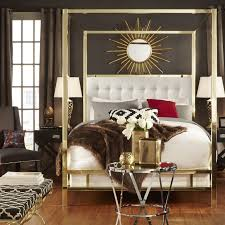 INSPIRE Q Solivita Queen-Sized Canopy Gold Metal Poster Bed - Free Shipping  Today - Overstock.com - 17498593