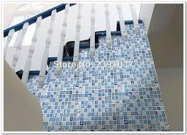 1box 11sheets brand new blue glass mosaic crystal glass 3d mosaic tile wall tile kitchen backsplash