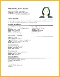 Resume Job Application Sample Resume Samples Format 3 Pretentious ...