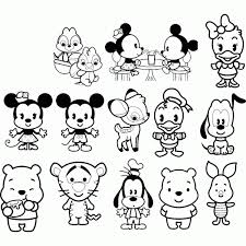 Cute Disney Baby Coloring Pages