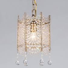 mini crystal beaded gold chandelier light fixtures retro small chandelier light fitting for dining room hallway passage balcony chandeliers cool