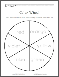 Small Picture Color Wheel for Primary Grades Free to print PDF file