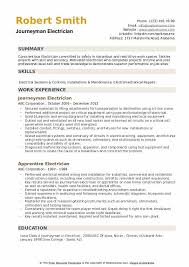 Sample Of Electrician Resumes Journeyman Electrician Resume Samples Qwikresume