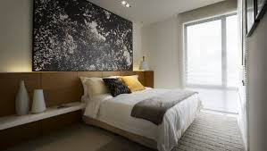 Simple Modern Bedroom Simple Modern Neutral Toned Bedroom With Gray Bedcover And