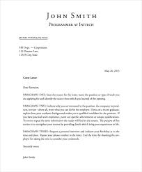 Format Of Cover Letter 5 Latex Cover Letter Templates Free Sample Example Format