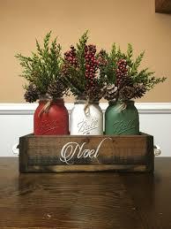 Mason Jar Holiday Decorations Mason Jar Christmas centerpiece mason jar christmas noel mason 98