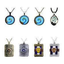 glass round pendant charm necklace fine jewelry bronze link chain drop